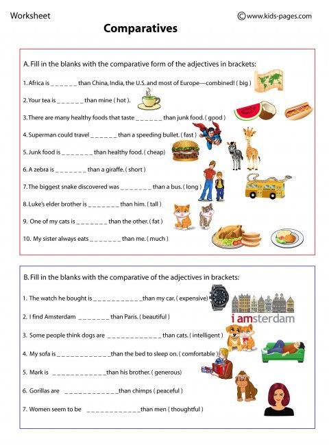 Comparatif en anglais - my-teacher.fr : apprendre l ...
