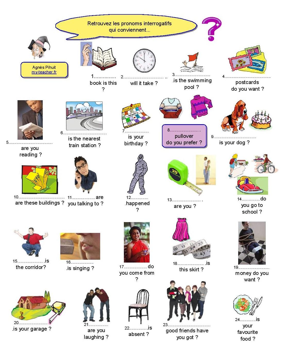Questions ouvertes : wh- questions - my-teacher.fr ...